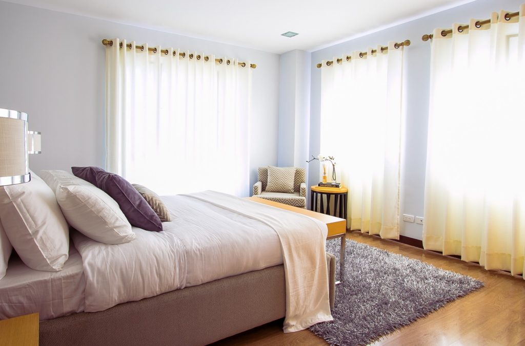 maximise natural light with curtains in lighter fabrics