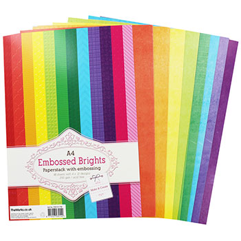 The Works A4 Embossed Brights Paperstack