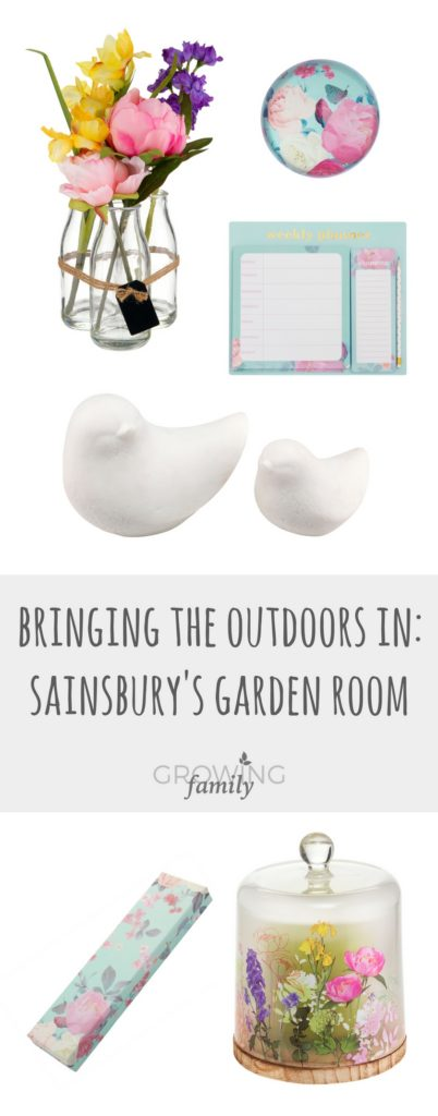 Checking out the Sainsbury's Garden Room range of home accessories, all designed to help you bring a touch of nature into your home.