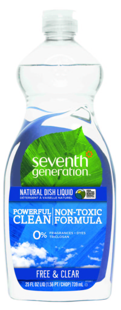 Seventh Generation free and clear dish liquid