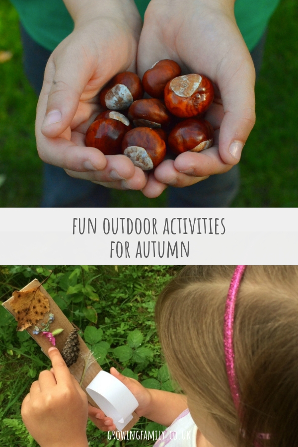 Lots of ideas for activities and crafts to help you make the most of being outdoors and enjoying nature with the kids in autumn.