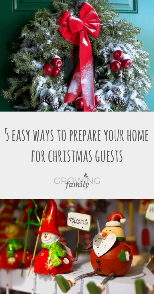 Preparing your home for Christmas guests? Keep it simple with these 5 easy ways to create a warm festive welcome without giving yourself too much work!