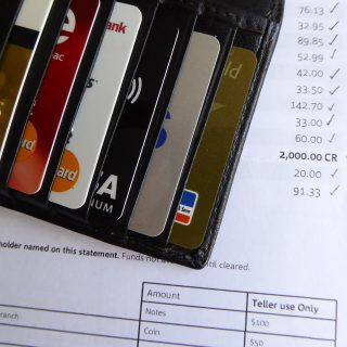 wallet and bank statement