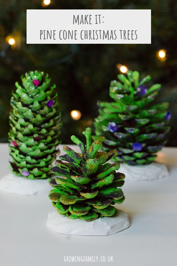 How to make these beautiful pine cone trees natural christmas decorations - a fun, easy nature craft to help prepare your home for the holiday season.