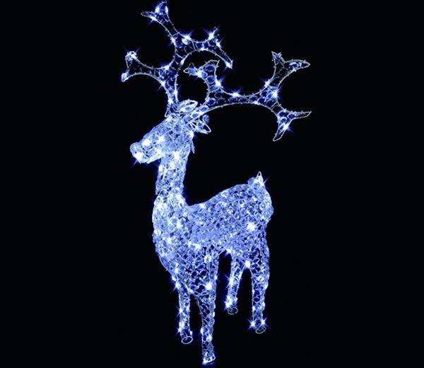 premier crystal led christmas reindeer