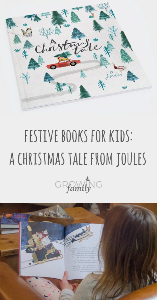 "Exploring the festive storybook ""A Christmas Tale"" from Joules - a great stocking filler for little ones, with 100% of profits going to Charitably Joules."