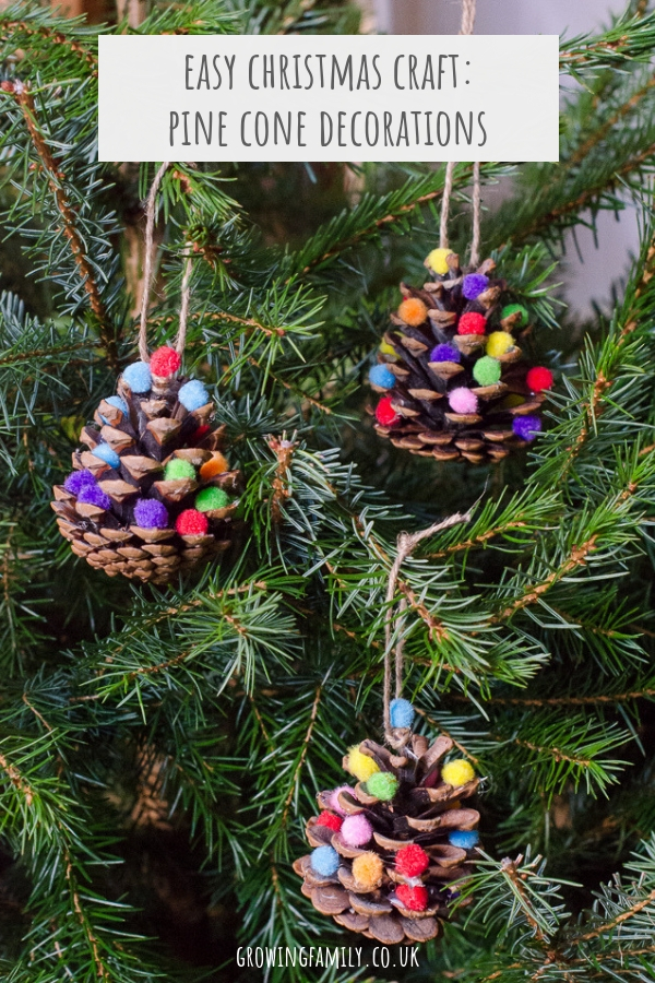 Pine Cone Christmas Ornaments To Make.Homemade Christmas Decorations Pom Pom Pine Cones Growing
