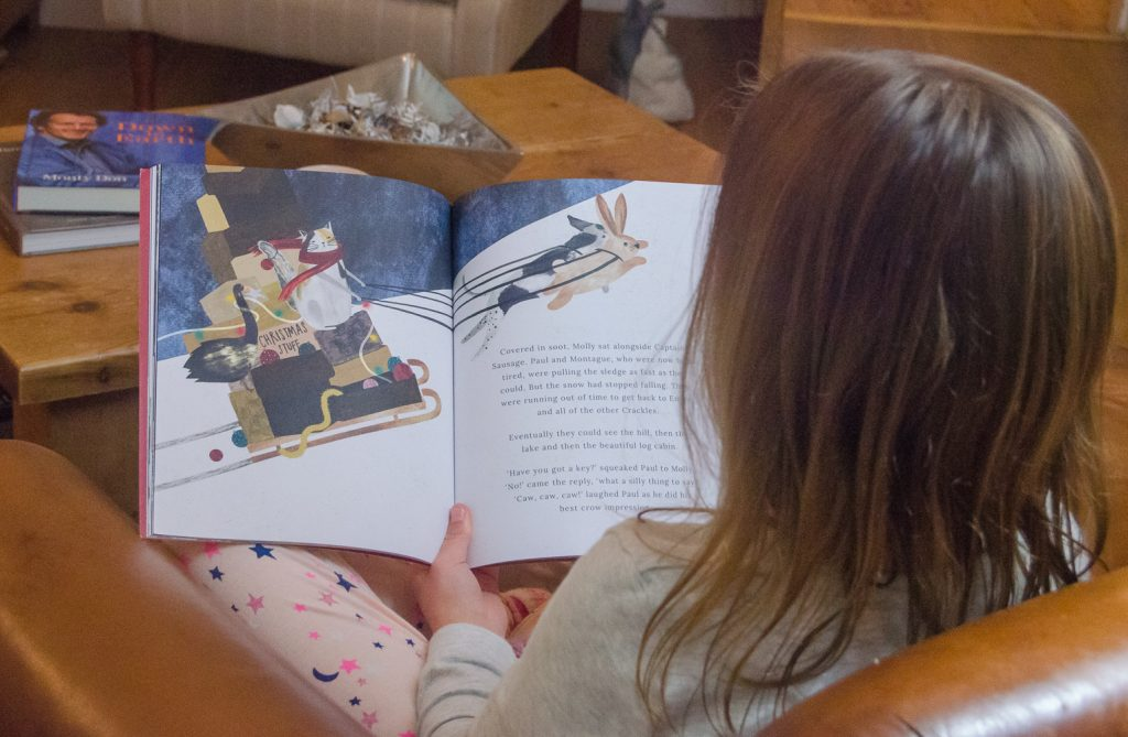 """Exploring the festive storybook """"A Christmas Tale"""" from Joules - a great stocking filler for little ones, with 100% of profits going to Charitably Joules."""