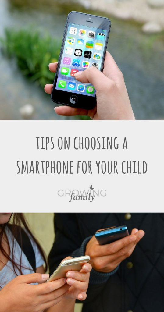 Tips on choosing a smartphone for kids
