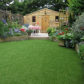 artificial grass family garden