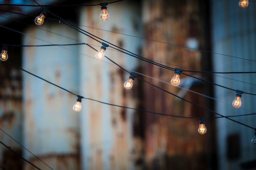 outdoor string garden lighting