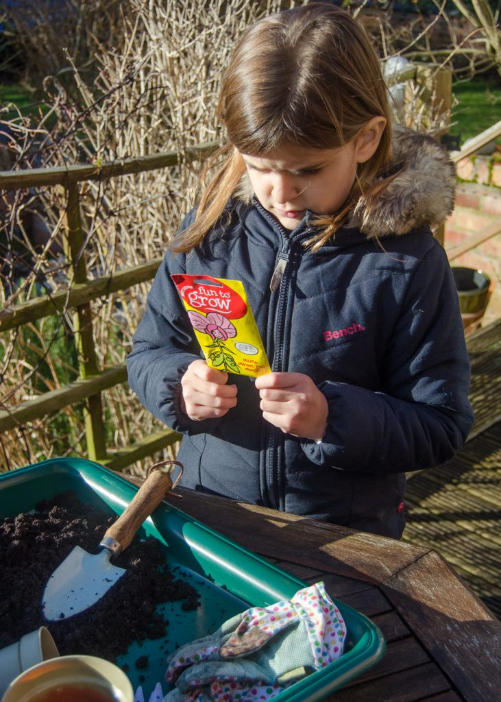 gardening with children in winter
