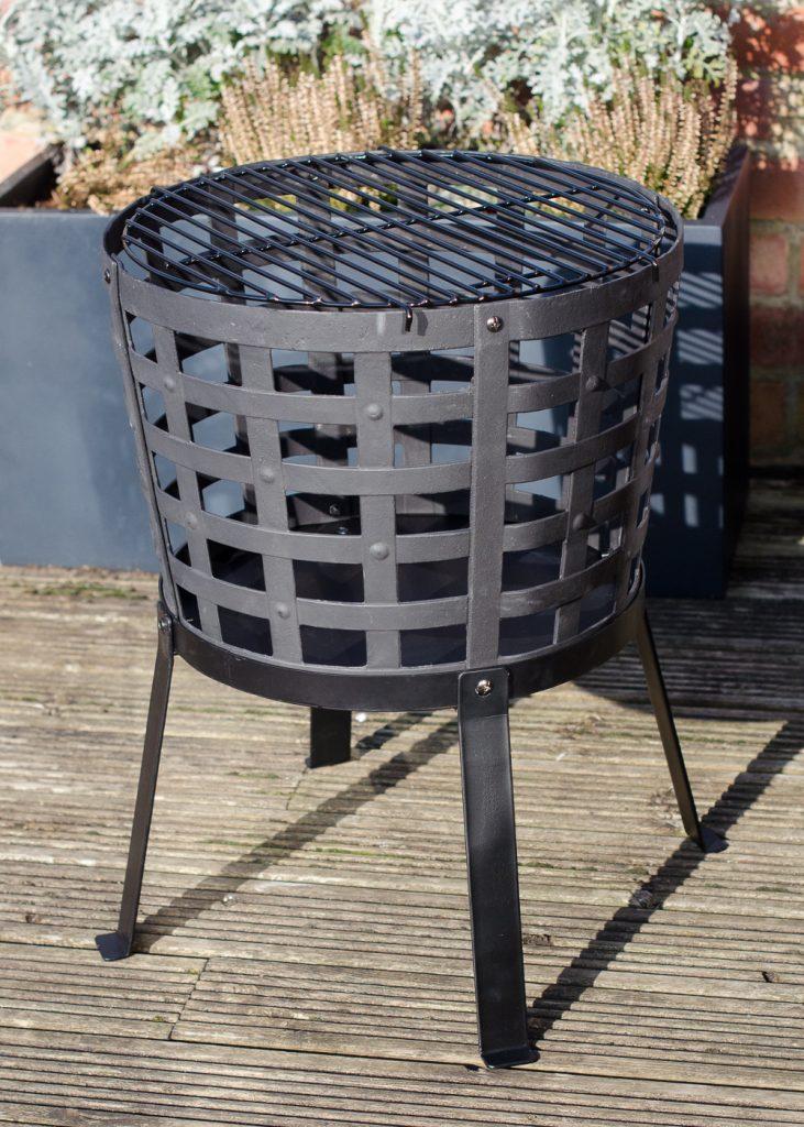 Aragon Cast Iron Fire Basket assembled