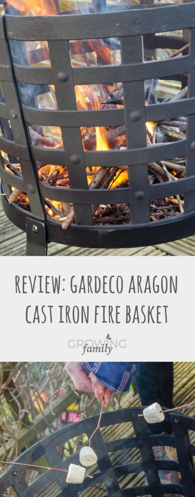 Reviewing the Gardeco Aragon cast iron fire basket from chimineashop.co.uk - a multi-purpose garden fire basket that's perfect for barbecues, clearing garden waste and warming up chilly evenings.