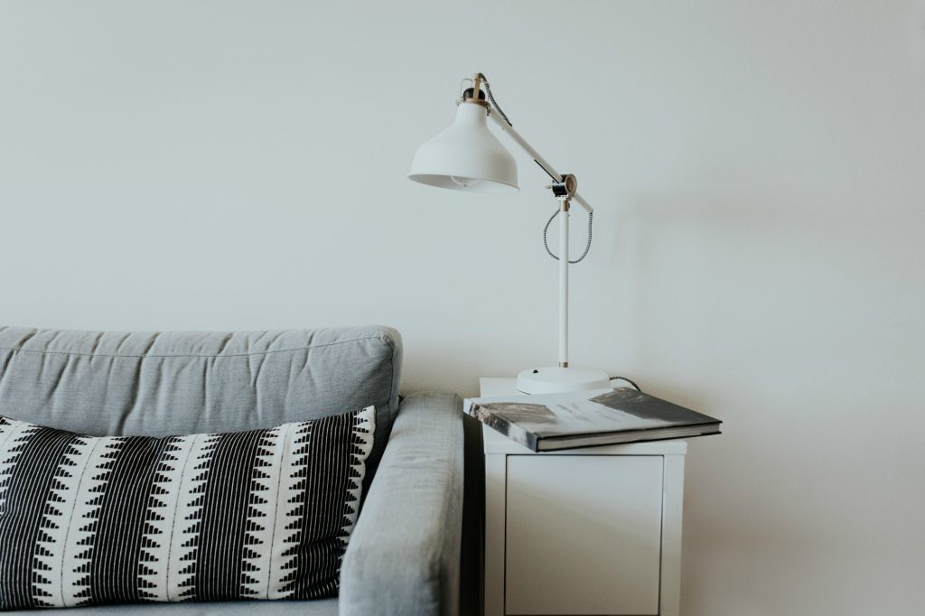 sofa with reading lamp
