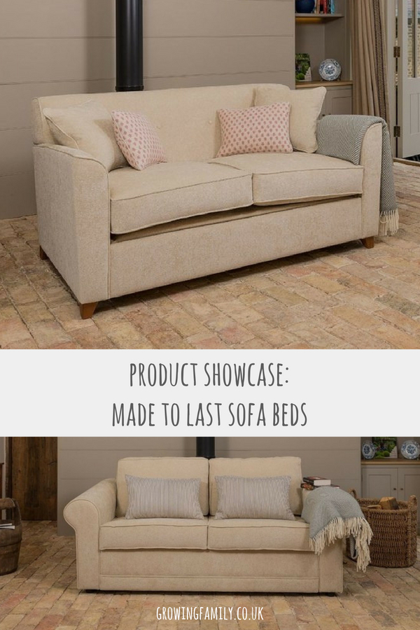 Exploring the Made to Last sofa bed range, all manufactured in the British Isles and including a guarantee which indicates the expected life.
