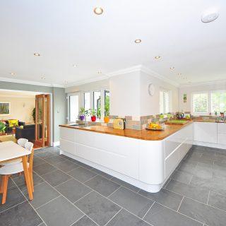 kitchen with bi-fold doors
