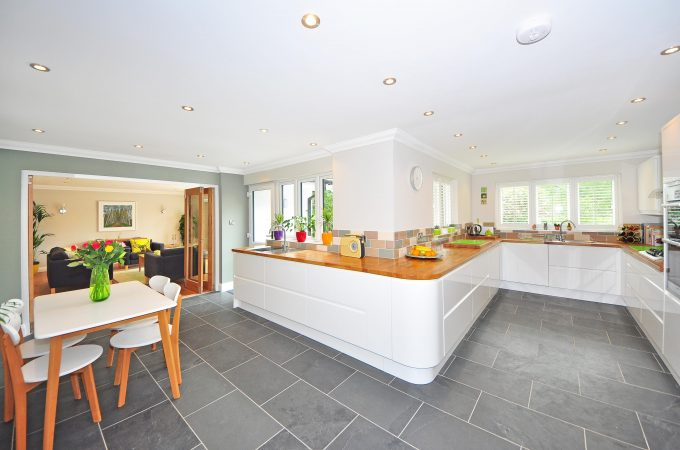 kitchen with bi-fold doors