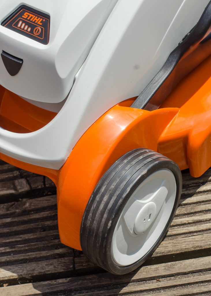 Stihl RMA339C cordless lawn mower wheel