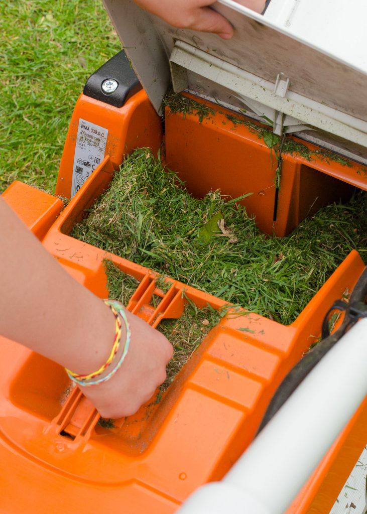 Stihl RMA339C cordless mower grass box