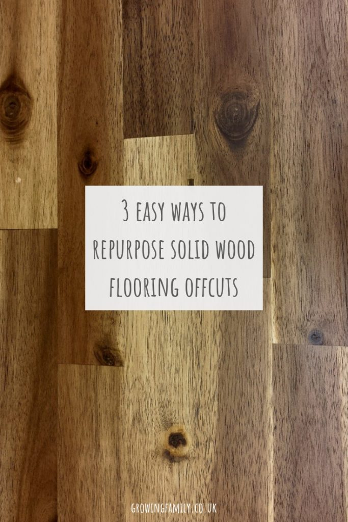 Home renovations can often leave you with surplus materials, check out these great ideas for putting solid wood flooring offcuts to good use.