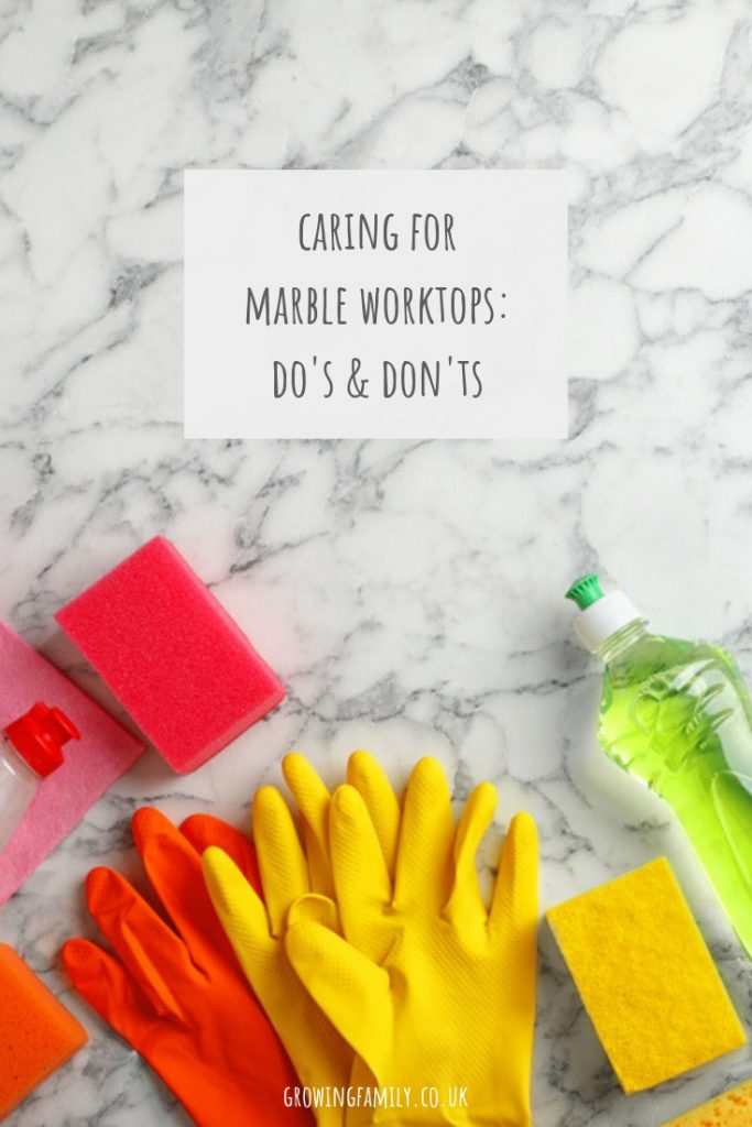 Do you have marble worktops in your kitchen?  This article has lots of tips for keeping them in top condition and looking great.