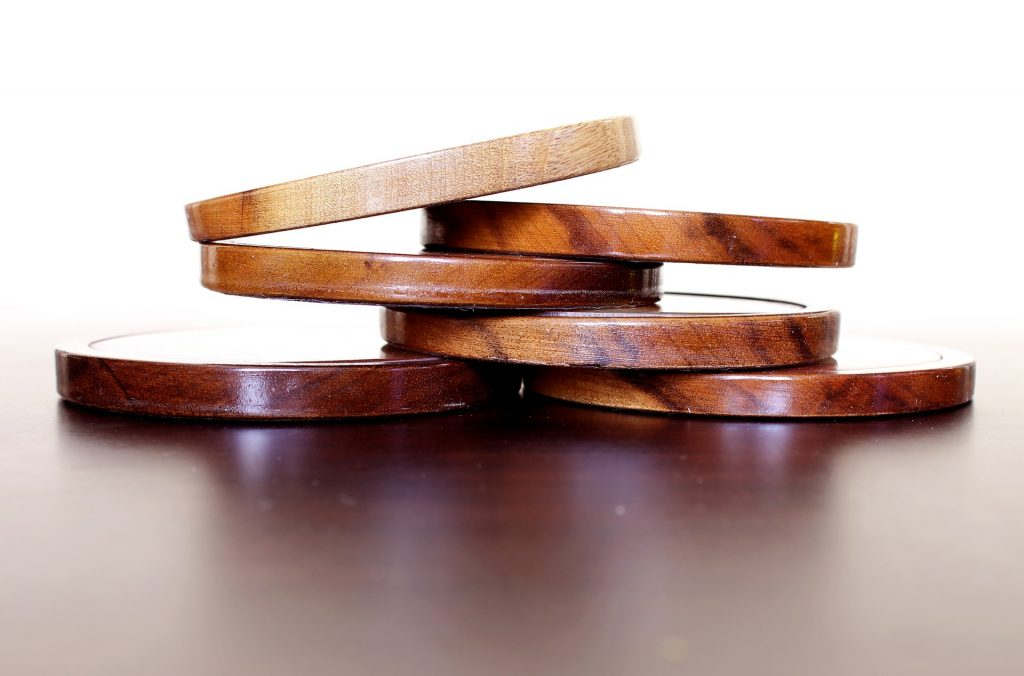 wooden flooring offcuts coasters