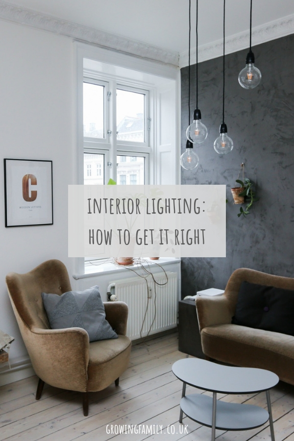 Lighting should be one of the first things we consider when embarking on an interiors project, because it's so integral to the finished 'feel' and functionality of a room. If you're a little unsure when it comes to choosing interior lighting, check out these tips on how to get it right.