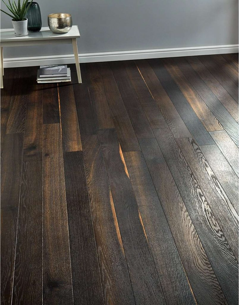 engineered wood flooring smoked effect