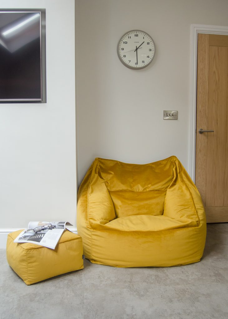 icon milano armchair bean bag and footstool