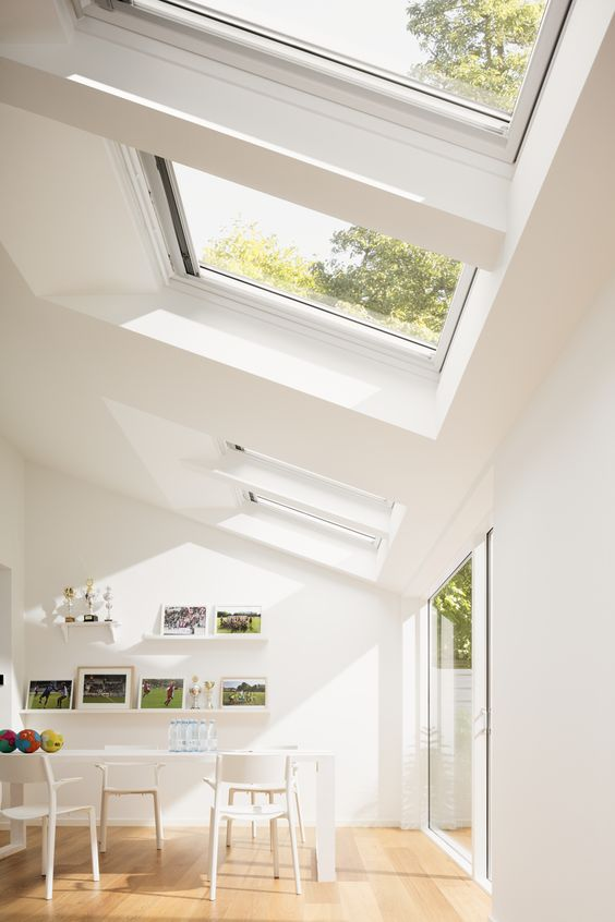 open plan kitchen roof windows