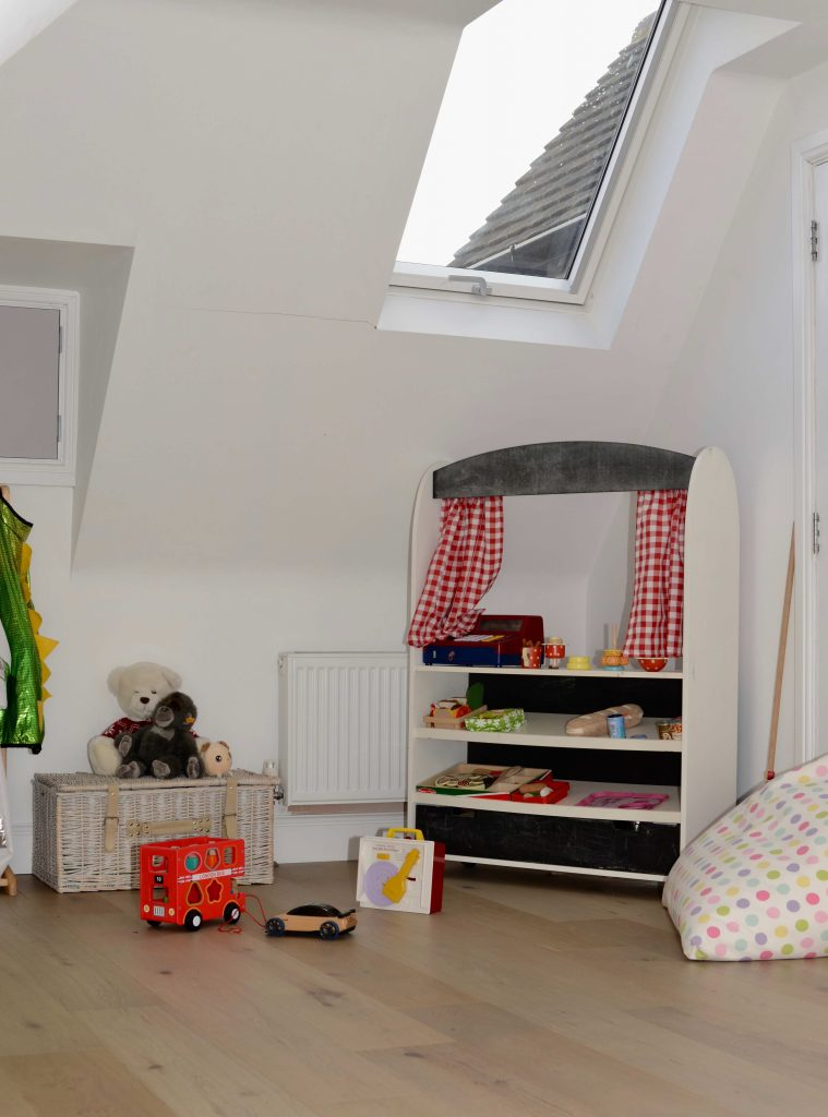 roof windows in loft conversion playroom