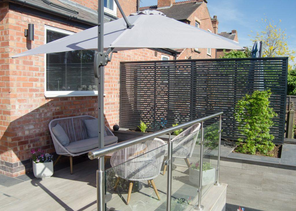 contemporary garden patio