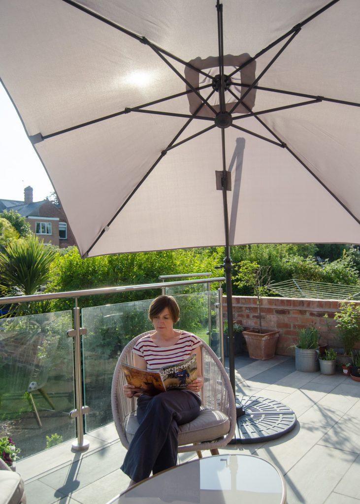 vonhaus roma garden parasol