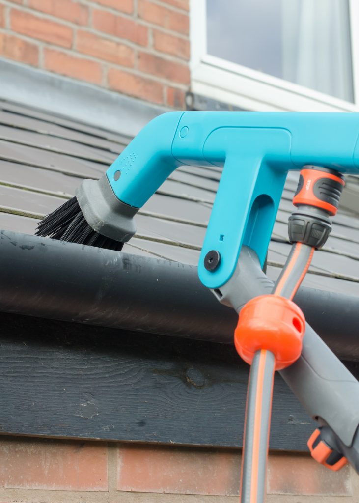 exterior home improvements - cleaning gutters