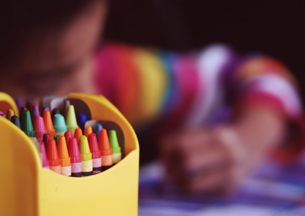 ways to keep kids entertained indoors - colouring