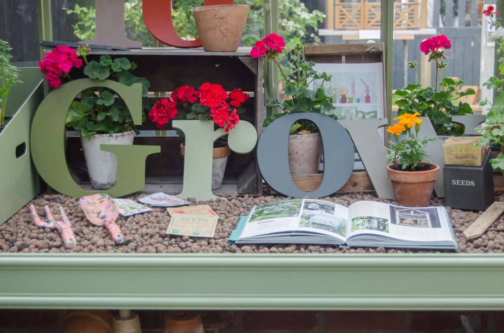 greenhouse potting station