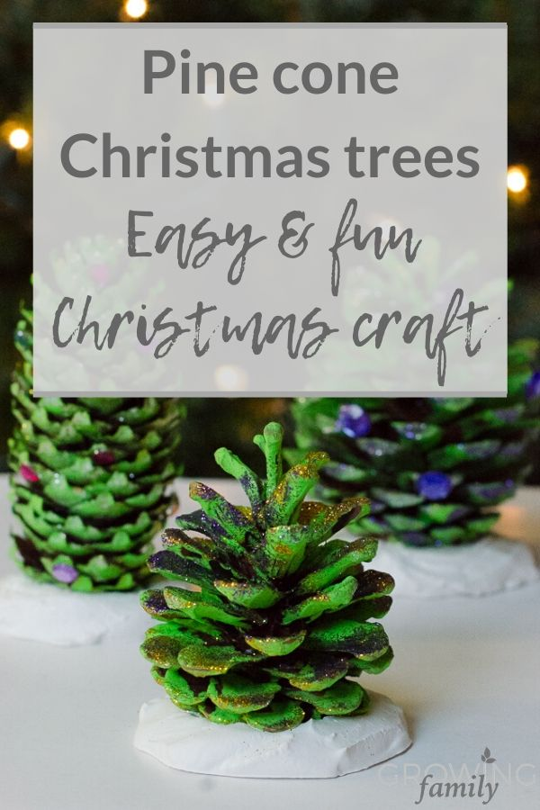 Homemade Christmas crafts: how to make pine cone handmade Christmas decorations.  A fun, easy DIY Christmas decorations project that the kids will love.
