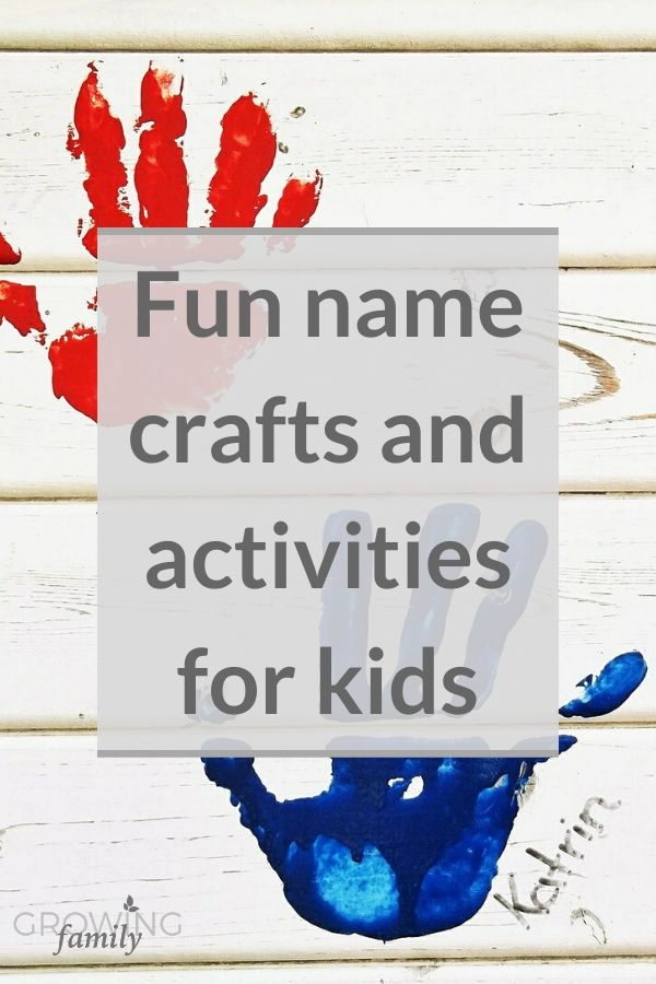 Check out these personalised name crafts and activities for kids - perfect for having fun and creating lovely homemade gifts!