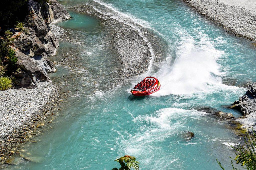new zealand road trip bucket list - queenstown speed boat