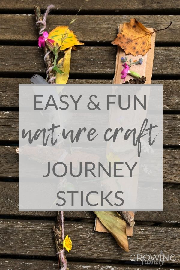 Nature crafts for kids: how to make a journey stick on a nature walk. A brilliant nature craft to help children learn about nature and their environment.