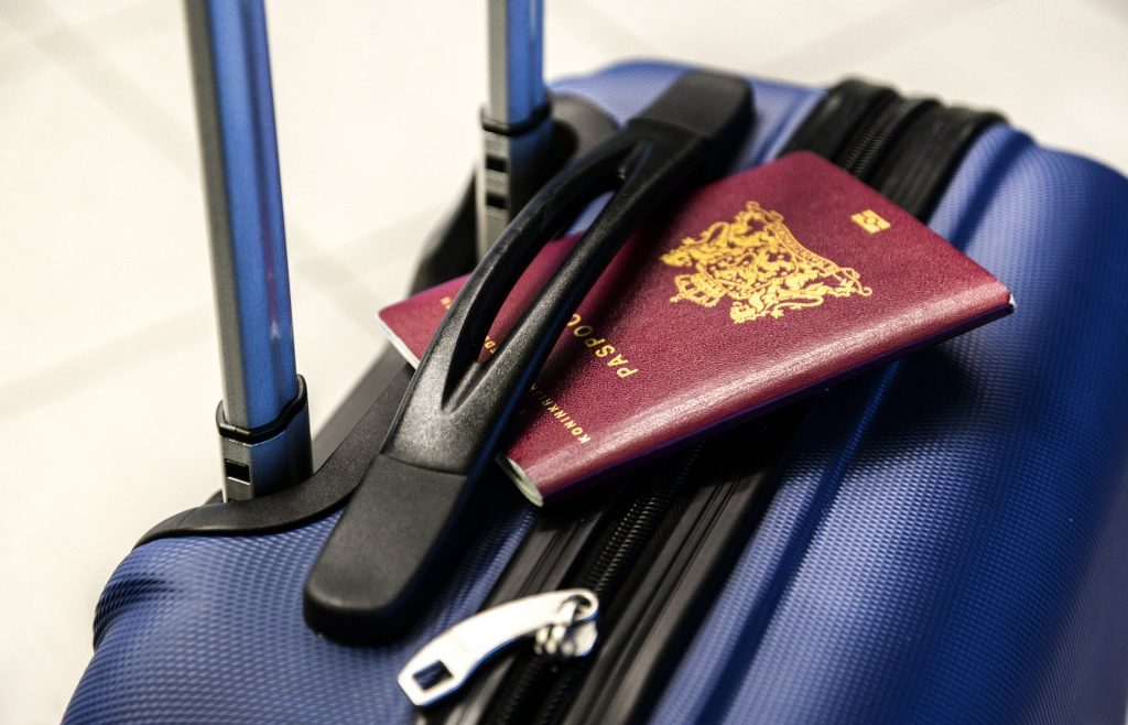 passport and suitcase