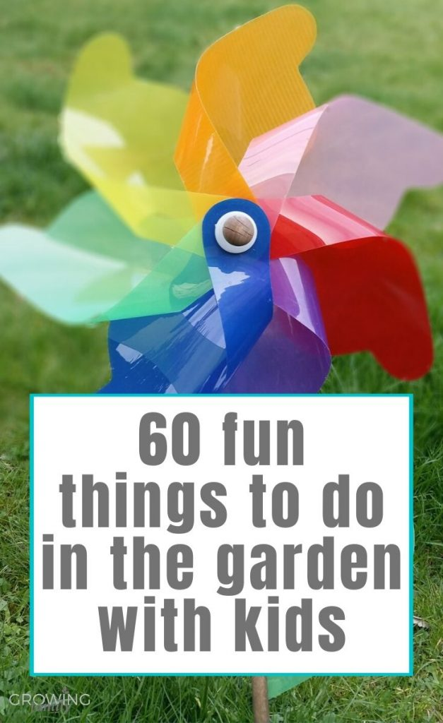 60 easy, fun things to do in your garden when you're stuck at home with the kids. Perfect for keeping kids entertained and active!