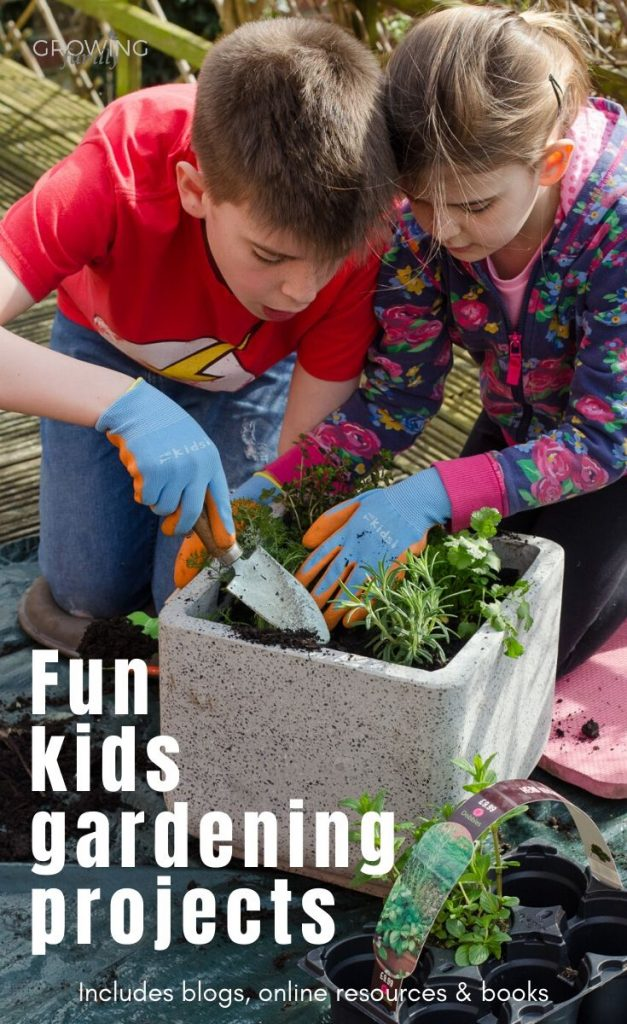 50 fun kids gardening ideas, projects and resources, suited to all ages of child and perfect for keeping kids busy in the garden!