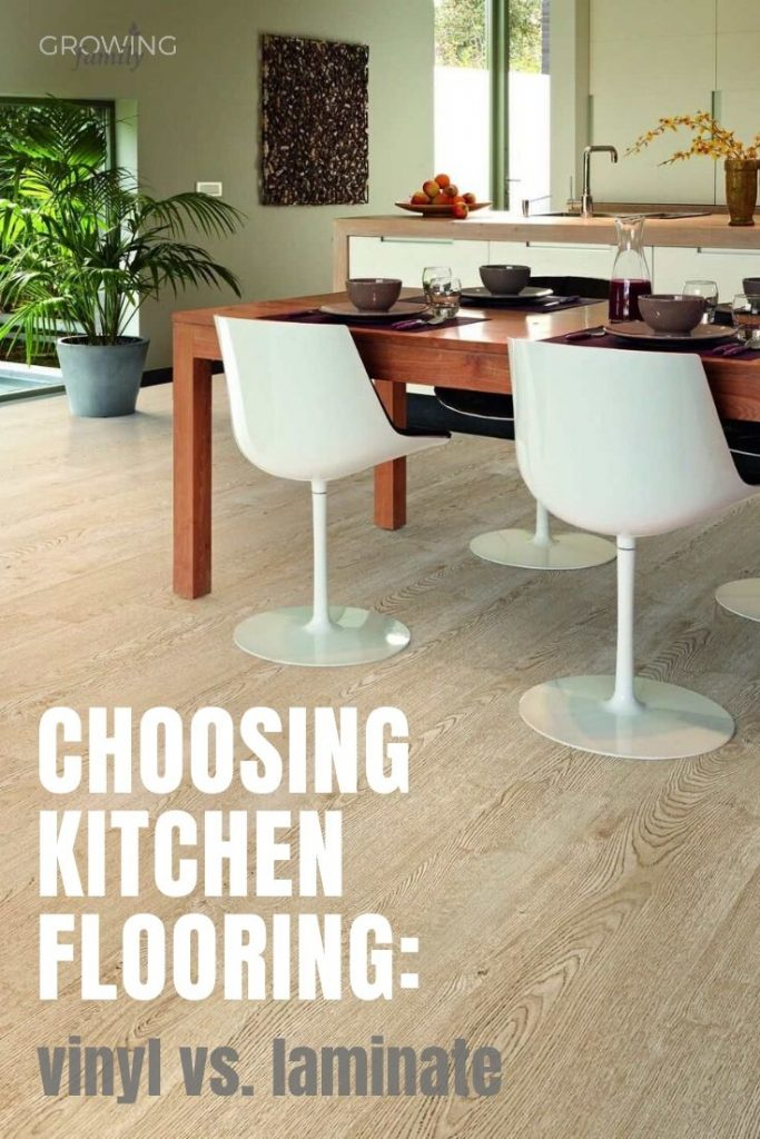 Planning on replacing your kitchen flooring?  This quick guide to vinyl and laminate flooring will help you choose the right option for your kitchen.