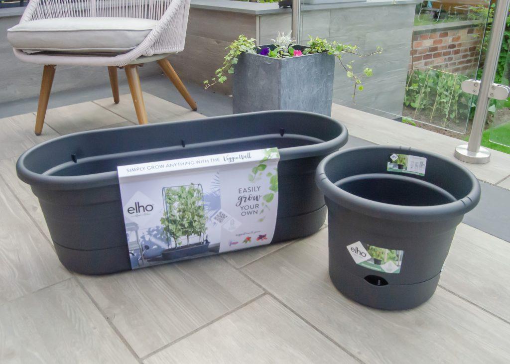elho green basics veggie wall and tomato pot