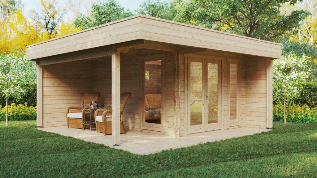 garden office with veranda