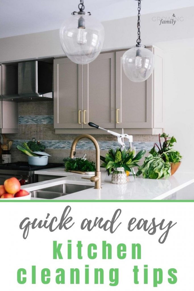 Six easy ways to keep your kitchen clean, so you can avoid a major cleaning session and still keep your kitchen looking good!
