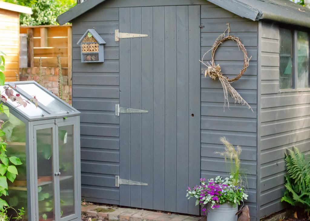 grey garden shed