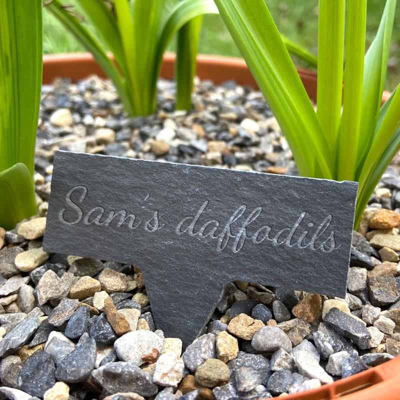 gifts for gardeners - mini slate garden sign from always personal